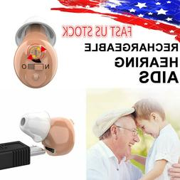 us rechargeable invisible cic hearing aids sound