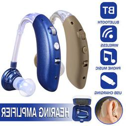 USB Rechargeable Wireless bluetooth Digital BTE Hearing Ear