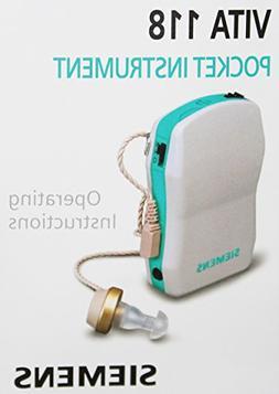 Siemens Vita 118 Pocket Hearing Instrument Hearing Amplifier
