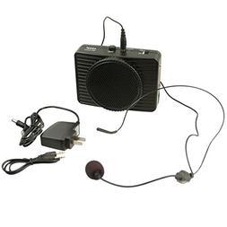 MR2300 Black VoiceBooster Loud Portable Voice Amplifier 20 watt Aker