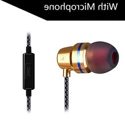 SUKEQ Wired Metal In Ear Headphones, Noise Cancelling Stereo