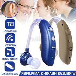 Wireless bluetooth Digital BTE Hearing Ear Aid Sound Amplifi