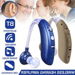 Wireless bluetooth Digital BTE Hearing Ear Aid Sound Amplifi