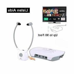 Wireless Hearing Aid Headset System,Artiste 2.4G TV Assistiv