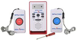 Secure Wireless Remote Dual Call Button Nurse Alert System -