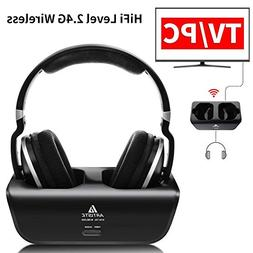Wireless TV Headphones, Artiste ADH300 2.4GHz Digital Over-E