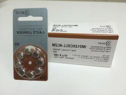 xcell size 312 brown hearing aid batteries